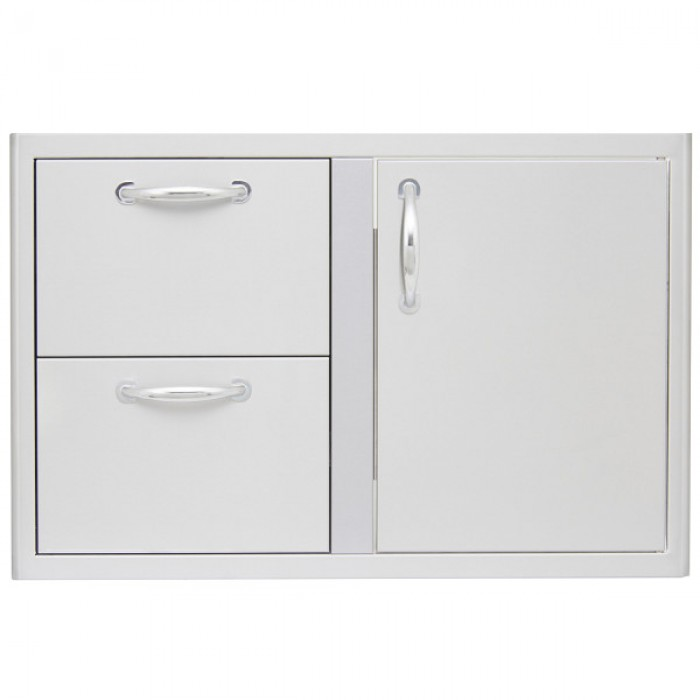 Blaze 32-Inch Access Door & Double Drawer Combo BLZ-DDC-R