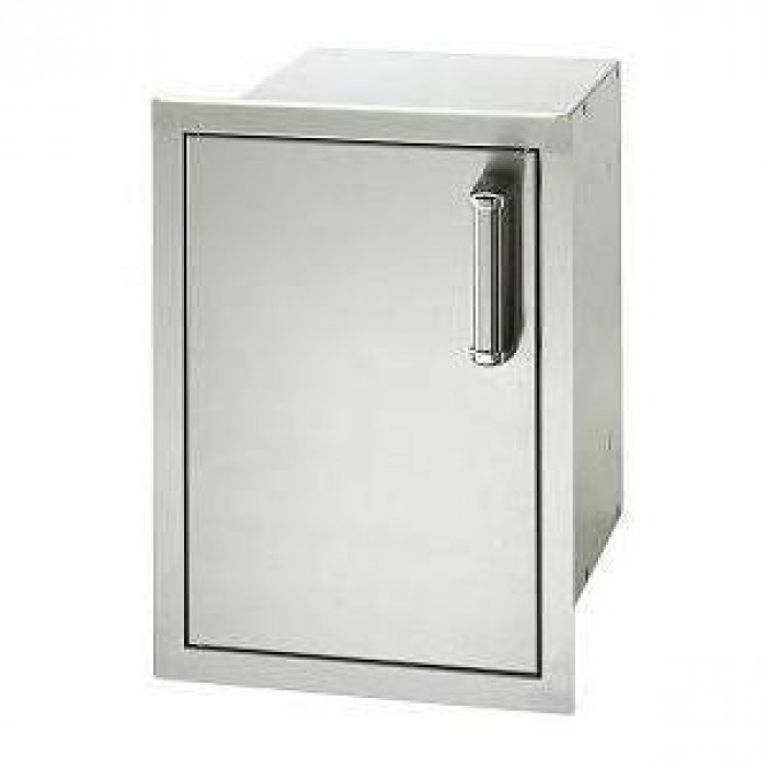 Fire Magic Premium Flush 14-Inch Enclosed Cabinet Storage With Drawers Left Hinge