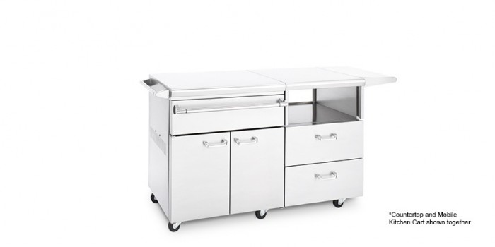 Countertop LSERVE and Mobile Kitchen Cart LMKC54 shown together