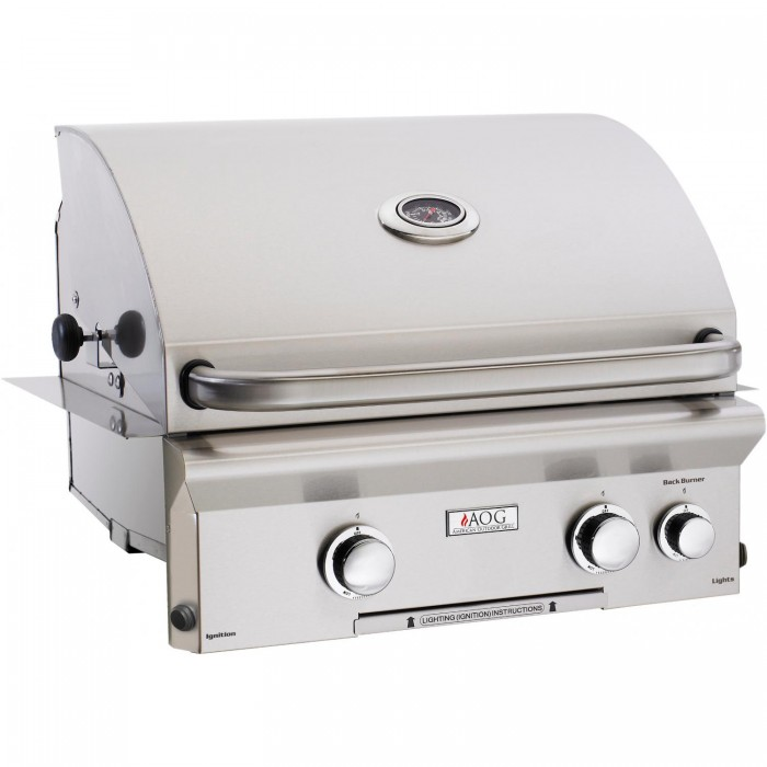 American Outdoor Grill L-Series 24-Inch Built-In Natural Gas Grill With Rotisserie