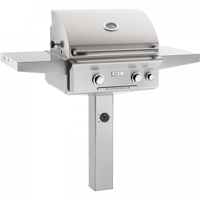 American Outdoor Grill L-Series 24-Inch Natural Gas Grill On In-Ground Post