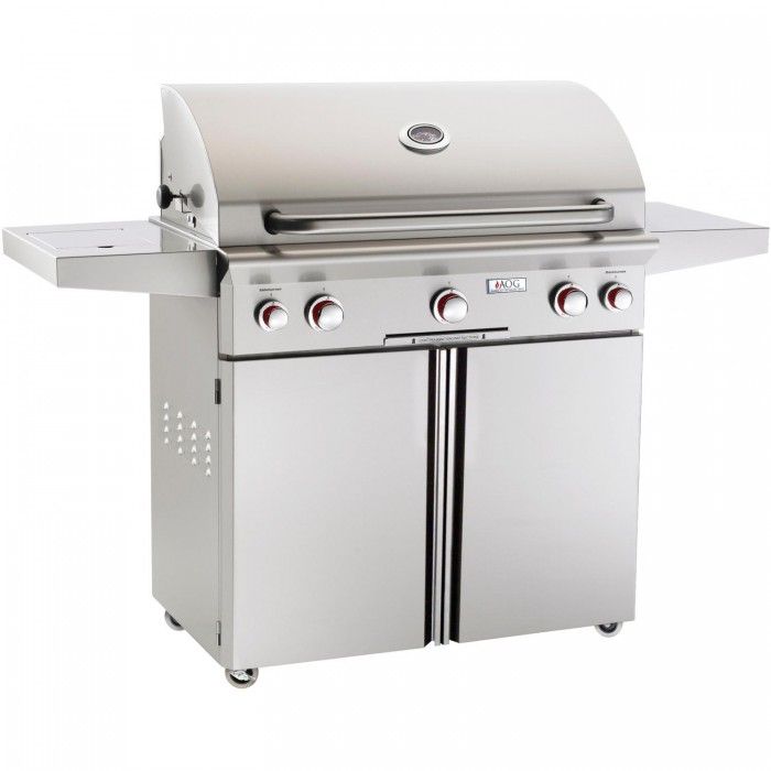 American Outdoor Grill T-Series 36-Inch Propane Gas Grill On Cart with Rotisserie and Side Burner