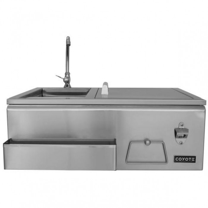 Coyote 30-Inch Stainless Steel Built-In Refreshment Center