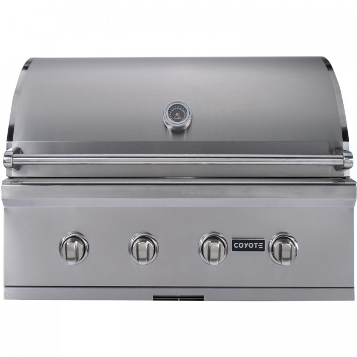 Coyote c series 36 inch built in gas grill 4 burner for Coyote outdoor grills reviews
