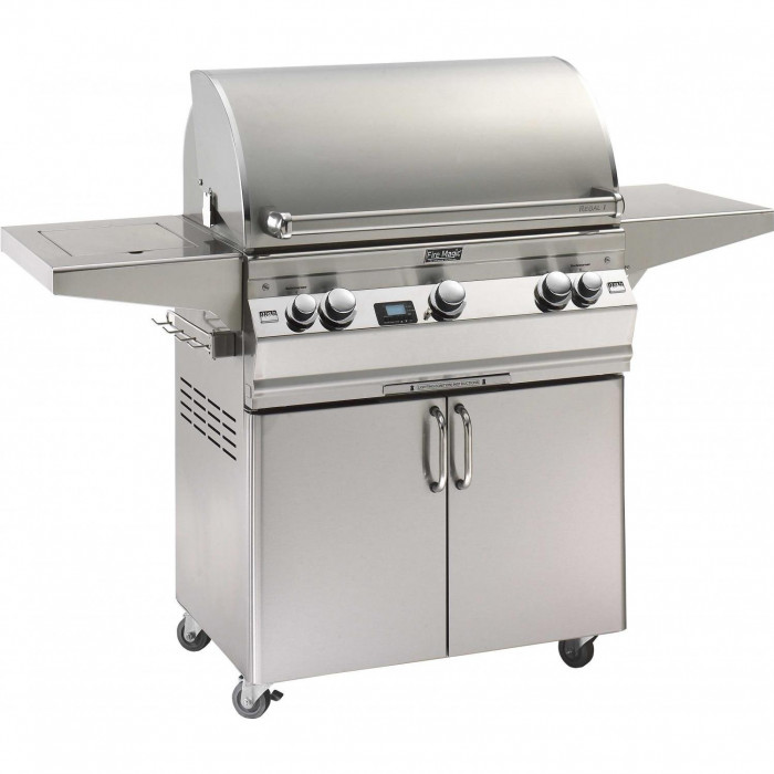 Fire Magic Aurora A540 Gas Grill With Single Side Burner One Infrared Burner And Rotisserie On Cart