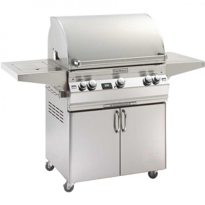 Fire Magic Aurora A660 Gas Grill With Single Side Burner One Infrared Burner And Rotisserie (NOT INCLUDED) On Cart