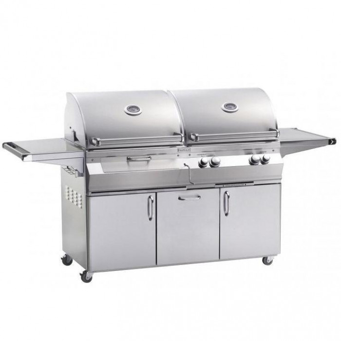 Fire Magic Aurora A830s Propane Gas And Charcoal Combo Grill On Cart