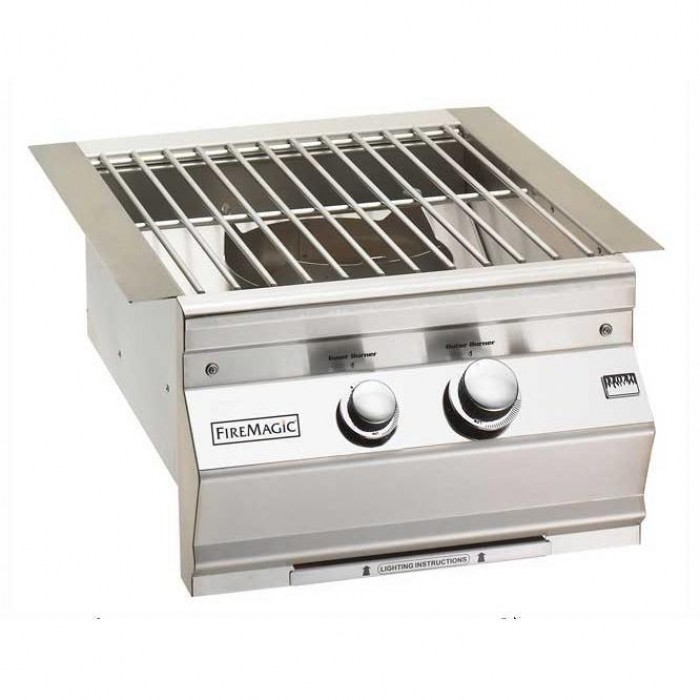 Fire Magic Aurora Built-In Gas Power Burner With Stainless Steel Grid
