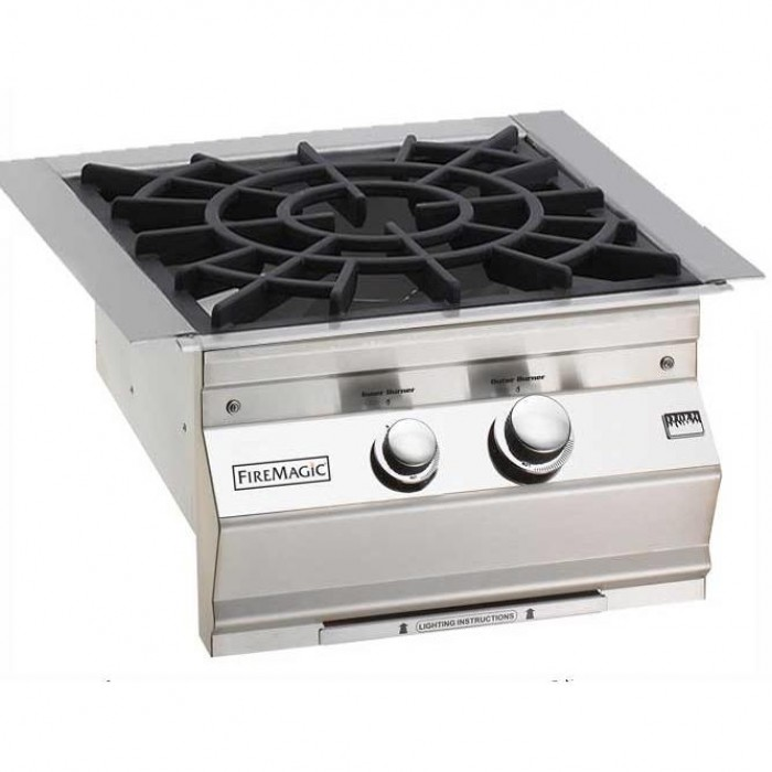 Fire Magic Built In Power Burner With Cast Brass Burner And Porcelain Cast Iron Grid