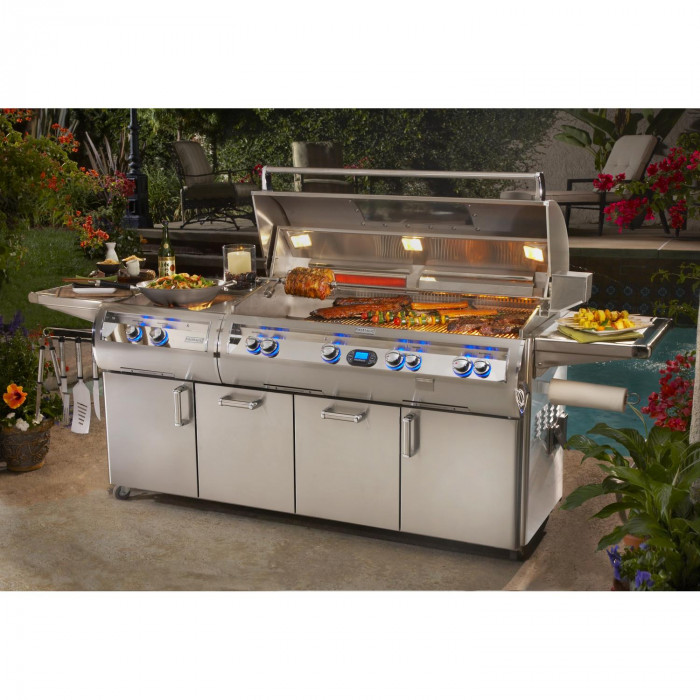 Fire Magic Echelon Diamond E1060 Gas Grill With Power Burner On Cart - Lifestyle