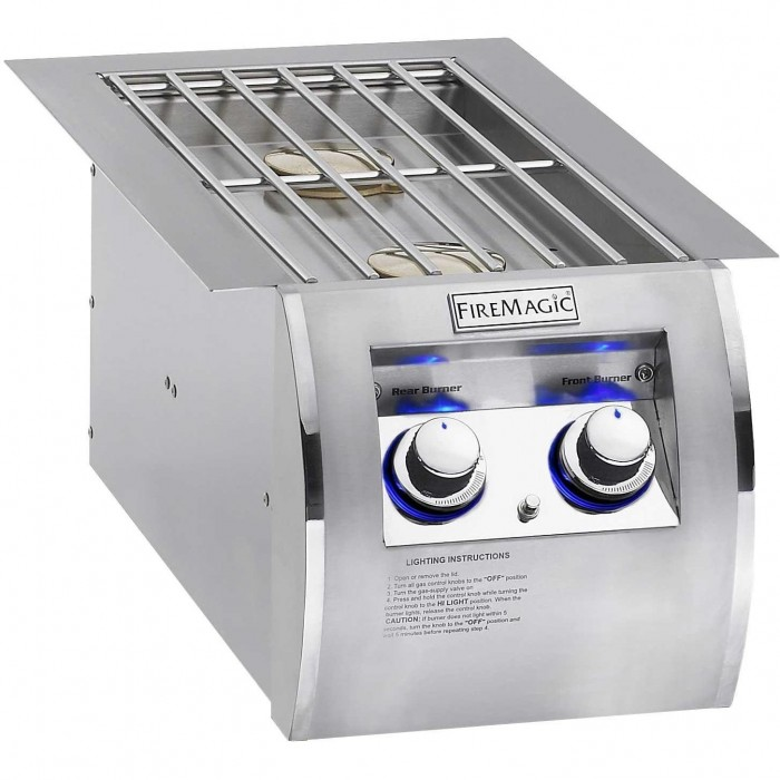 Fire Magic Echelon Diamond Built-In Double Side Burner 32814