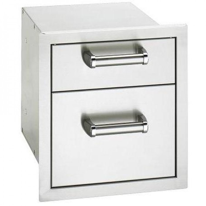 Fire Magic Echelon Flush-Mounted Stainless Double Drawer