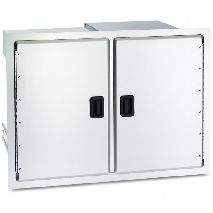 Fire Magic Legacy 30-Inch Double Access Doors With Dual Drawers And Trash Bin Storage
