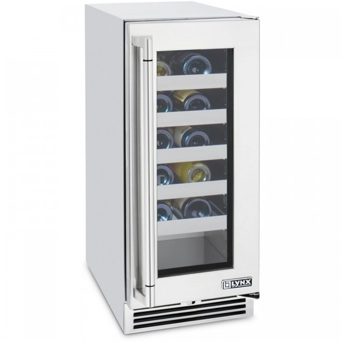 Lynx 20 Bottle Outdoor Wine Cooler - Stainless Steel - L15-WINE