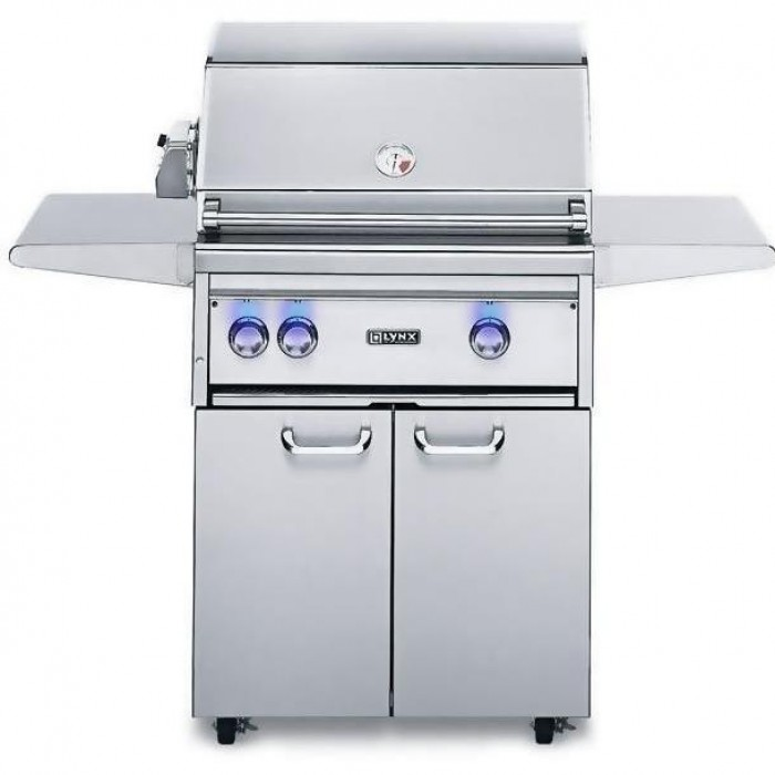 Lynx 27-Inch Gas Grill With Trident ProSear Burner And Rotisserie On Cart