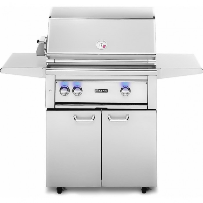Lynx 30-Inch All Trident ProSear Gas Grill With Rotisserie On Cart