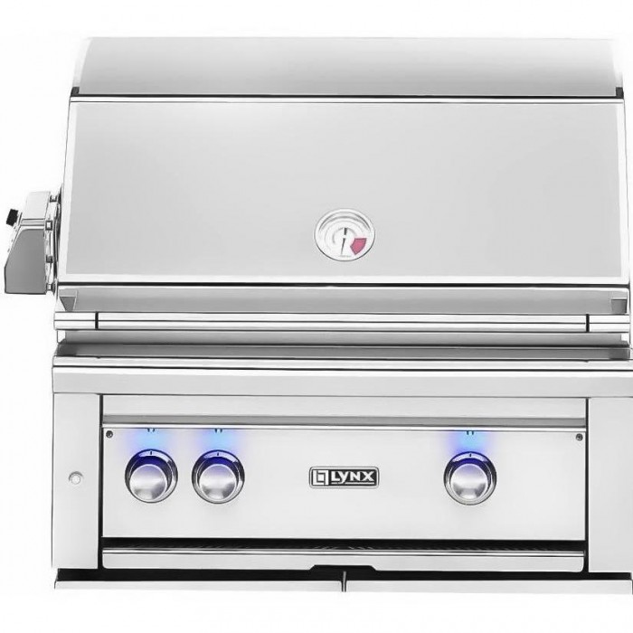 Lynx 30-Inch Built In Gas Grill With Trident ProSear Burner And Rotisserie