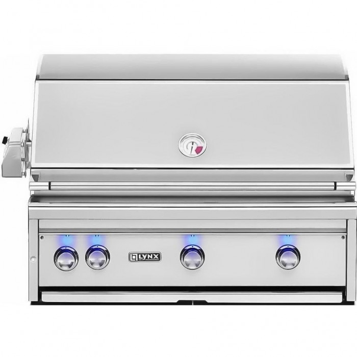 Lynx 36-Inch All Trident ProSear Built In Gas Grill With Rotisserie
