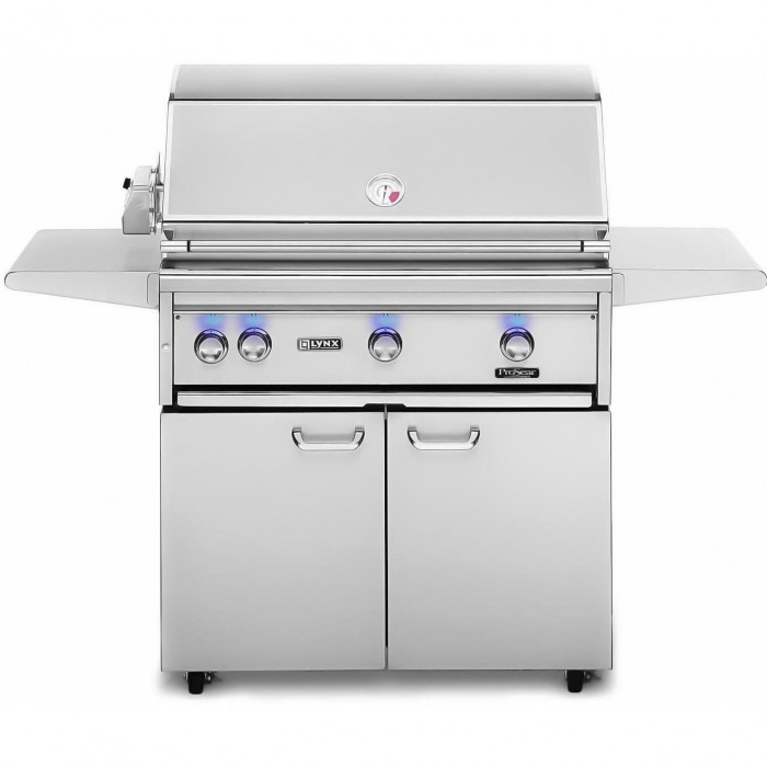 Lynx 36-Inch Gas Grill With Trident ProSear Burner And Rotisserie On Cart