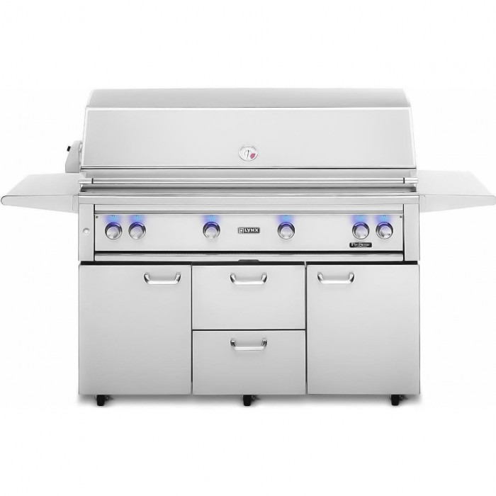 Lynx 54-Inch Gas Grill With Trident ProSear Burner And Rotisserie On Cart