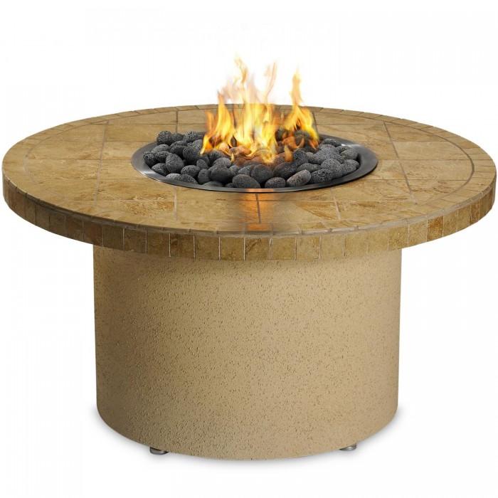Sedona By Lynx 44-Inch Round Propane Ice-N-Fire Pit - Sandalwood
