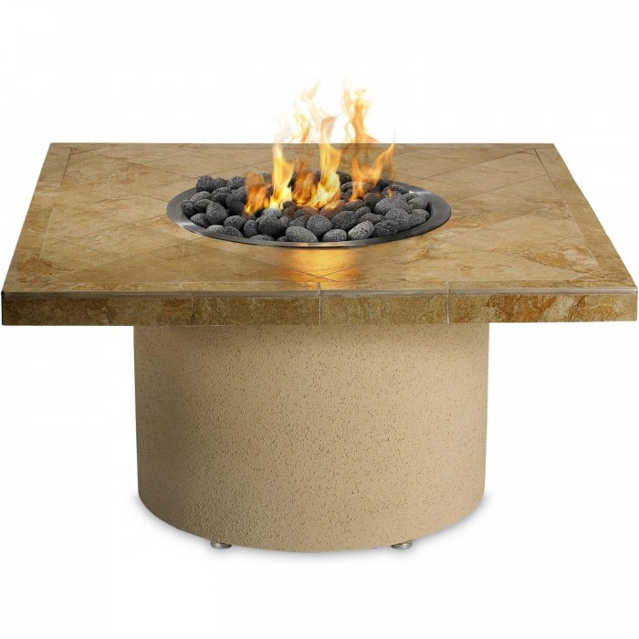 Sedona By Lynx 44-Inch Square Propane Ice-N-Fire Pit - Sandalwood