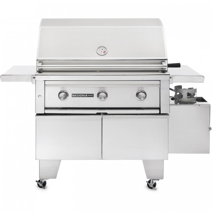 Sedona By Lynx ADA 36 Inch Natural Gas Grill On Cart With ProSear Burner And Rotisserie L600ADAR-NG