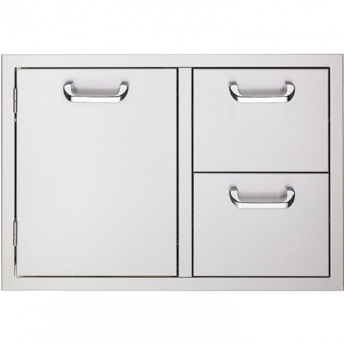 Sedona by Lynx 30 Inch Storage Door And Double Drawer
