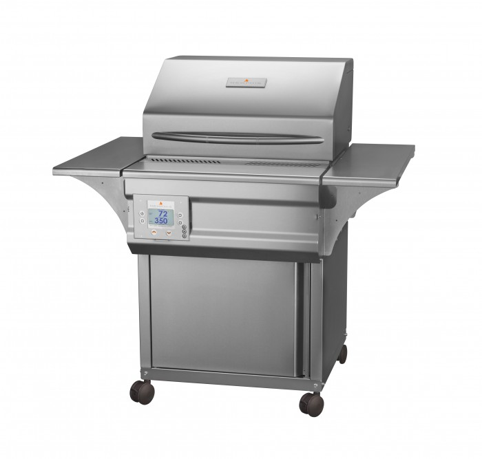 Memphis Grills Advantage Plus 26-Inch Wood Pellet Grill On Cart - 430 SS Alloy