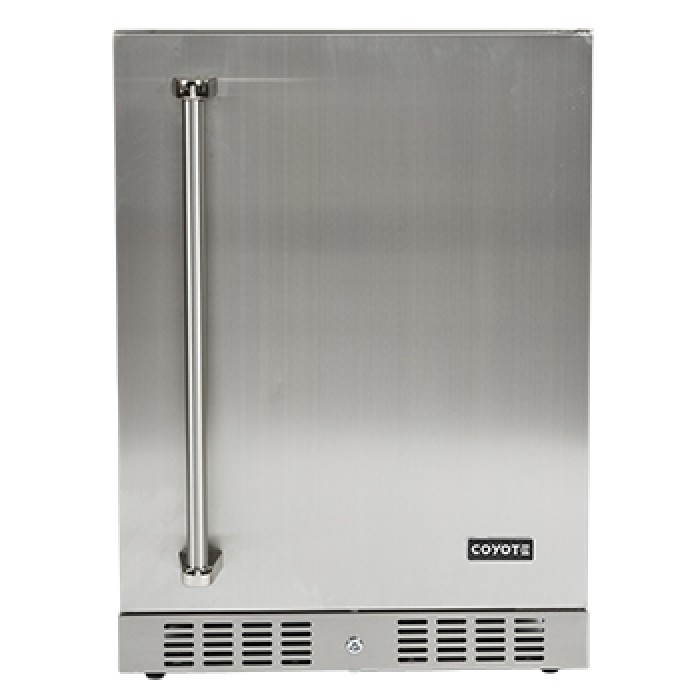 Coyote 24-Inch 5.5 Cu. Ft. Right Hinge Outdoor Rated Compact Refrigerator