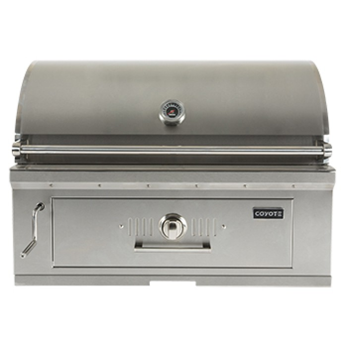 Coyote 36-Inch Built-In Stainless Steel Charcoal Grill