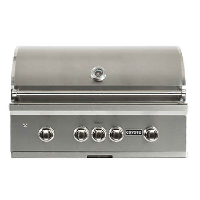 Coyote S-Series 36-Inch Built-In Grill with LED Backlit Knobs C2SL36