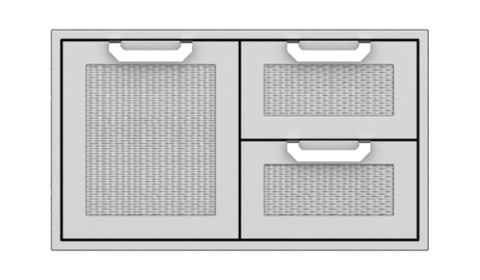 Hestan 36-Inch Double Drawer and Storage Door Combo HS-AGSDR36