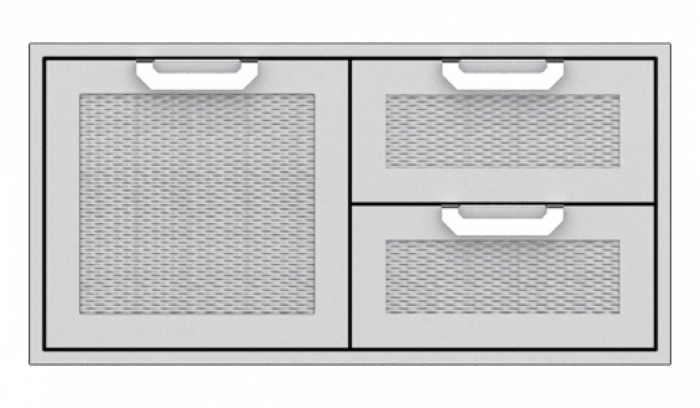 Hestan 42-Inch Double Drawer and Storage Door Combo HS-AGSDR42