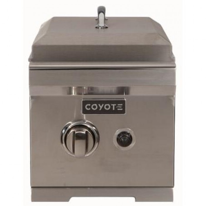 Coyote Built-In Propane Gas Single Side Burner - With Lid