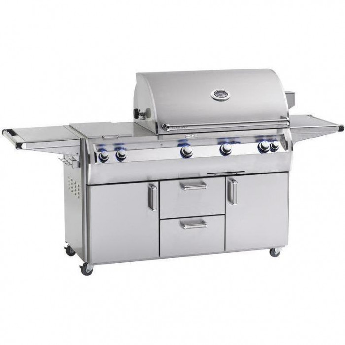 Fire Magic Echelon Diamond E790s 36-Inch Freestanding Gas Grill W/ Analog Thermometer And Double Side Burner