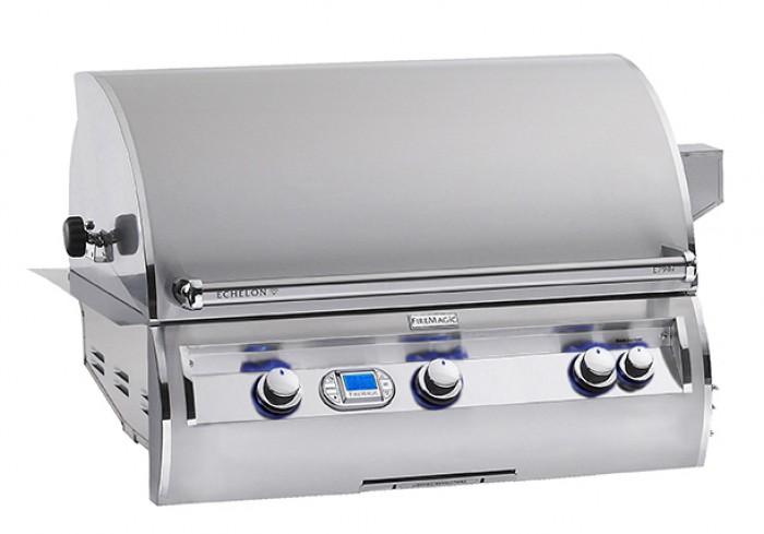 Fire Magic Echelon Diamond E790i A Series Propane Gas Built-In Grill Open View