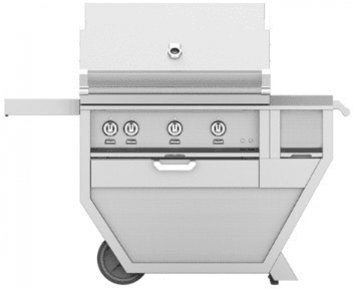 Hestan 36-Inch Deluxe Grill on Cart