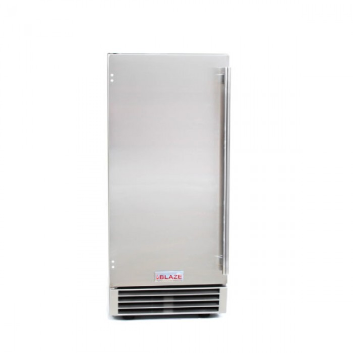 Blaze 50lb 15-Inch Outdoor Ice Maker with Gravity Drain BLZ-ICEMKR-50GR