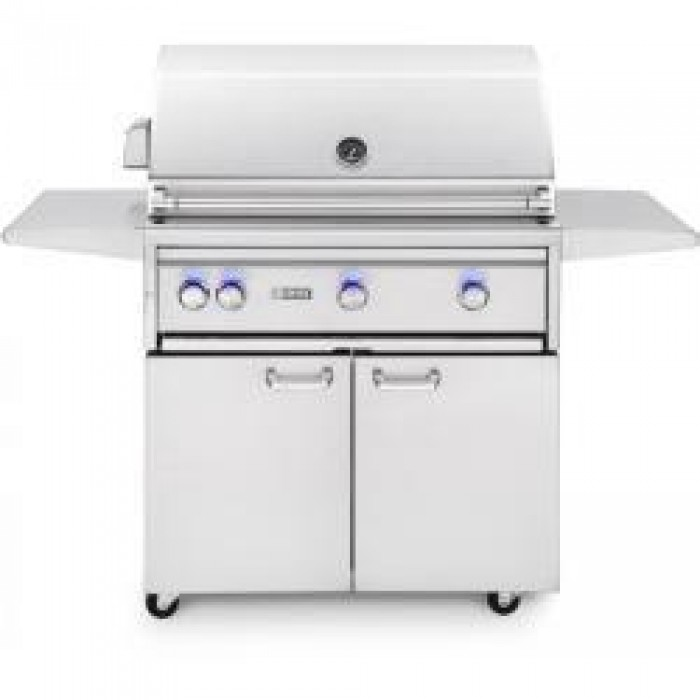 "Lynx 36"" Professional Freestanding Grill with 1 Trident Infrared Burner and 2 Ceramic Burners and Rotisserie L36TRF"