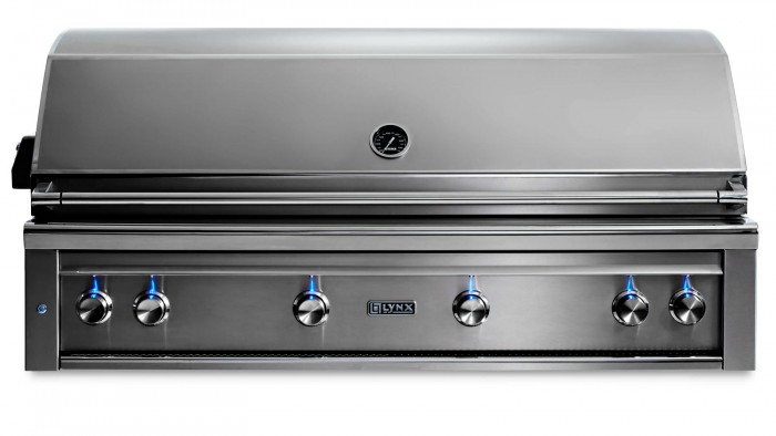 "Lynx 54"" PROFESSIONAL BUILT-IN GRILL WITH 1 TRIDENT INFRARED BURNER AND 3 CERAMIC BURNERS AND ROTISSERIE L54TR"