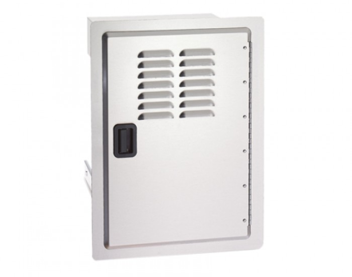 Fire Magic Legacy 14-Inch Vertical Single Access Door With Propane Tank Storage and Louvers