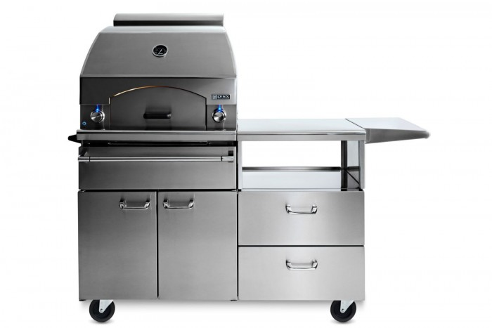 Lynx Professional Napoli Freestanding Outdoor Pizza Oven On Mobile Kitchen Cart-LPZAF.