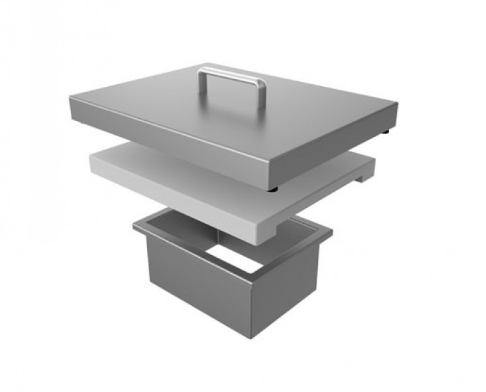 Aspire by Hestan Countertop Trash Chute With Cutting Board