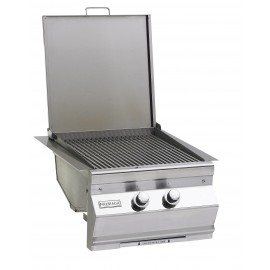 Fire Magic Propane Gas Built-In Double Searing Station Side Burner 3288-1P Lid Open