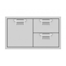Aspire by Hestan 36-Inch Double Drawer and Storage Door Combo