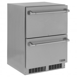 Lynx 24-Inch 5.0 Cu. Ft. Outdoor Rated Double Drawer Refrigerator LM24DWR