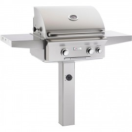 American Outdoor Grill L-Series 24-Inch Natural Gas Grill On In-Ground Post With Rotisserie