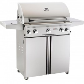 American Outdoor Grill L-Series 30-Inch Propane Gas Grill On Cart with Rotisserie and Side Burner