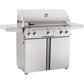 American Outdoor Grill L-Series 36-Inch Natural Gas Grill On Cart With Rotisserie and Side Burner